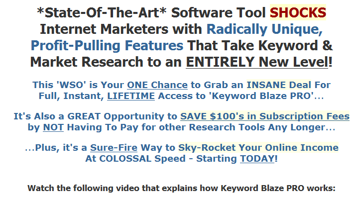 Keyword Blaze Pro wso of the day wso software 2 seo 2  Tools Search engine optimization Keyword Blaze PRO Keyword Google AdWords Google E commerce AdWords